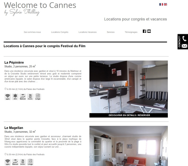 cr ateur du site internet welcome to cannes. Black Bedroom Furniture Sets. Home Design Ideas